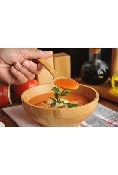 Evim Tatlı Evim Bambu Çay Tatlı Yemek Kaşığı Seti 18 Parça