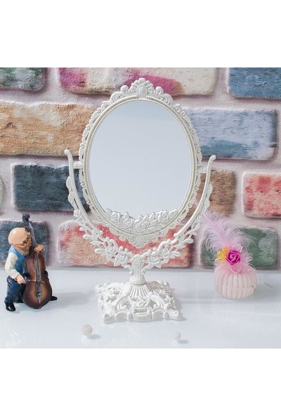 Evim Tatlı Evim Dekoratif Ayaklı Makyaj Aynası