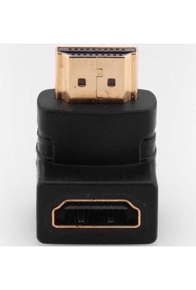 Tkz HDMI F to HDMI M L Şeklinde Uzatma Ara Adaptör