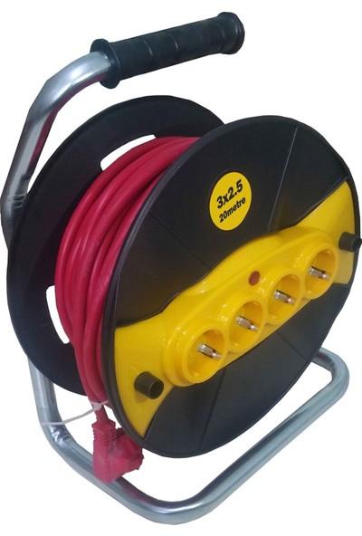Ctn 3X2.5Mm 20Metre Seyyar Makaralı Kablo