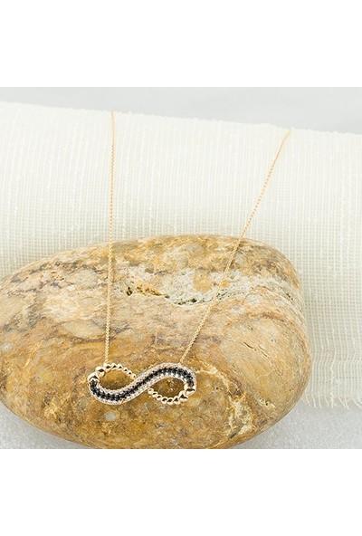 Label Jewelry Sonsuzluk 14 Ayar Rose Altın Kolye