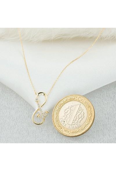 Label Jewelry Sonsuzluk & Çapa 14 Ayar Altın Kolye