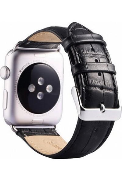 Booyse Apple Watch 2-3-4 Serisi Uyumlu Deri Kayış Saat Kordon - 38 - 40Mm
