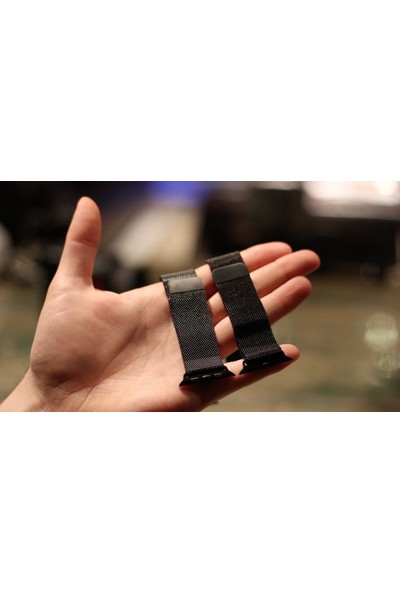 Booyse Apple Watch 2-3-4 Serisi Uyumlu Milano Loop Metal Hasır Saat Kordon Kayış - 42 - 44Mm