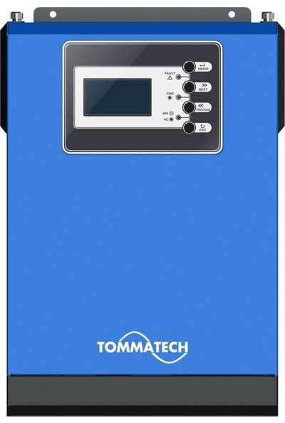 Tommatech New 1 Kva Tam Sinüs İnvertör 1250VA 1000W 12v