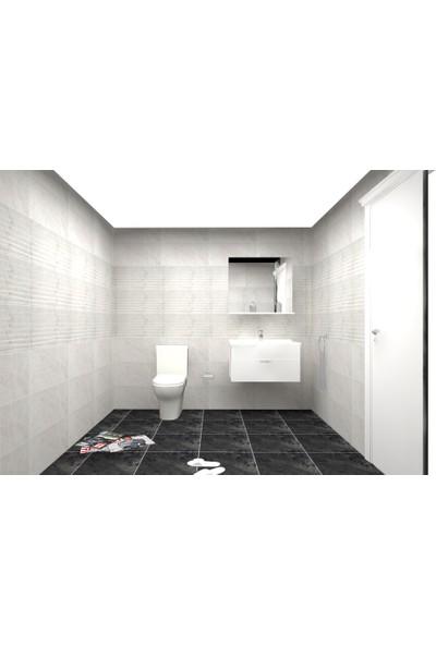 Vi̇tra Bi Banyo Set Duşakabin + Banyo Dolabı + Klozet seti+ Versus Beyaz seramik serisi