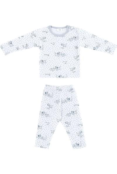 Uygun Bebe Dalmaçyalı Desenli Bebek Pijama Takımı
