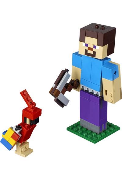 LEGO Minecraft 21148 Papağanlı BigFig Steve