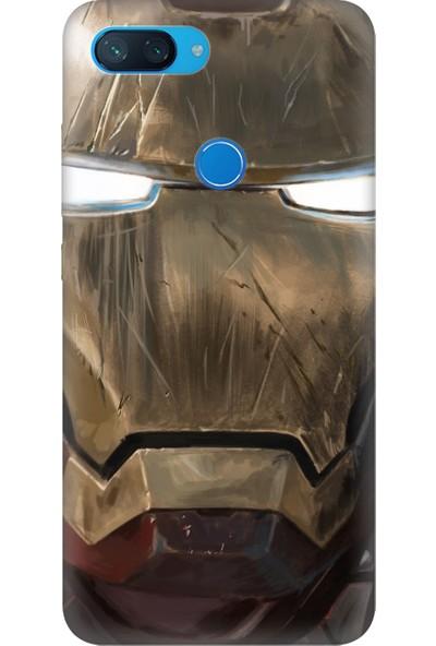 Cekuonline Xiaomi Mi 8-Lite Desenli Esnek Silikon Telefon Kapak Kılıf - Iron Man Mix