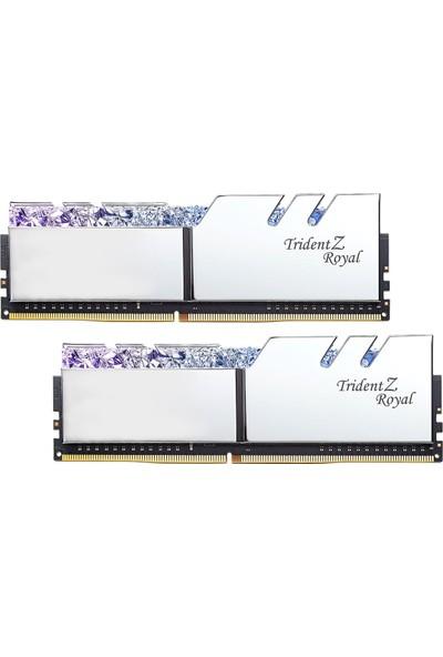 Gskill Trident Z Royal Silver RGB LED 16GB (2X8GB) 3000MHz DDR4 Ram (F4-3000C16D-16GTRS)