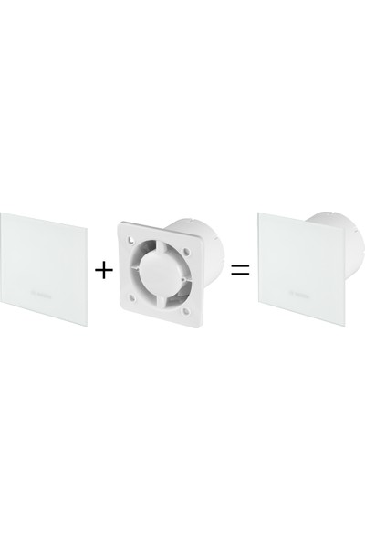 Bosch Banyo Aspiratörü / Fanı 1700 Serisi Mat Beyaz 125 mm çap
