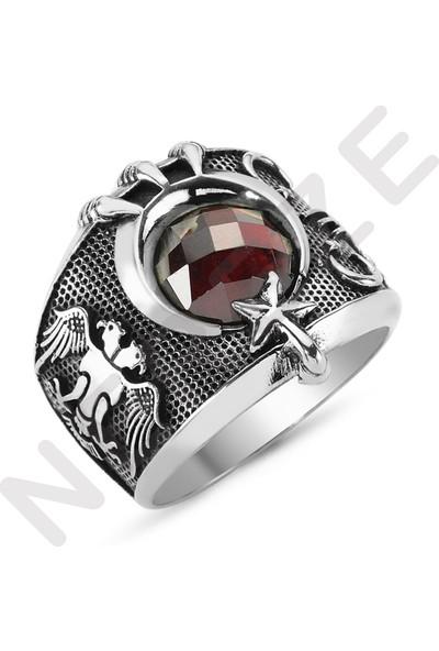 Nereze Son İmparator Yüzüğü Kartal Pençesi Erkek Gümüş Yüzük
