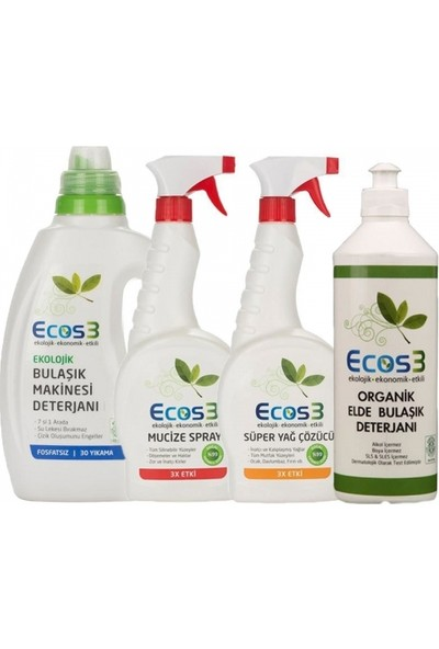 Ecos3 Organik Temizlik Mutfak Seti