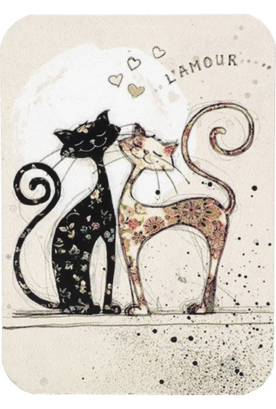 Haytap Aşık Kediler Magnet