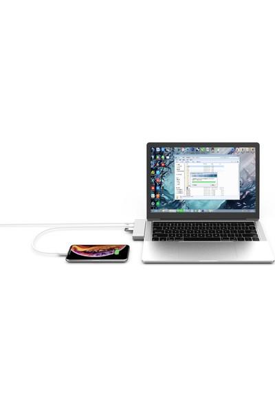 Basix USB C 5 in 1 Multiport Alüminyum USB 3.0 Hub Kart Okuyucu - Silver (BSX-T5S)