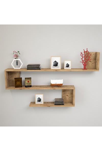 Yurudesign Shelf R10 Modern Duvar Rafı Kitaplık Atlantik Çam