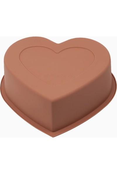 Silicolife SL03 Kahverengi Renk Büyük Kalp Kek Kalıbı