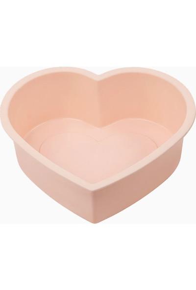 Silicolife SL03 Pembe Renk Büyük Kalp Kek Kalıbı