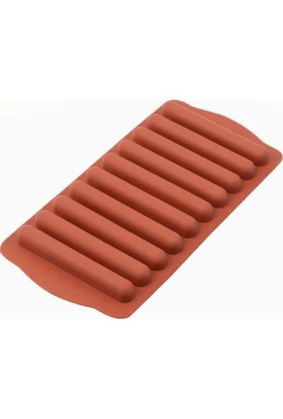 Silicolife SL10 Kiremit Renk Parmak Buzluk ve Çikolata Kalıbı