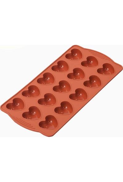 Silicolife SL09 Kiremit Renk Kalp Buzluk ve Çikolata Kalıbı