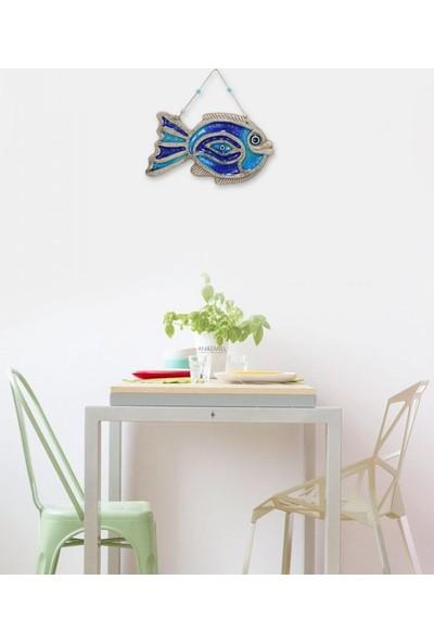 Angemiel Home Seramik Mavi Göz Balık No:1 Duvar Aksesuarı