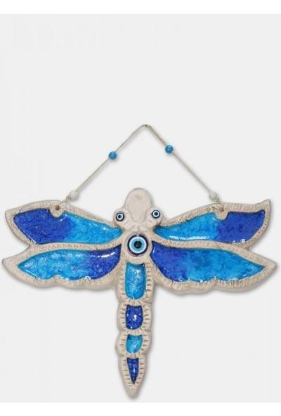 Angemiel Home Seramik Mavi Yusufçuk No:3 Duvar Aksesuarı