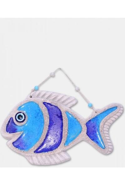 Angemiel Home Seramik Yeni Mavi Dil Balığı No:3 Duvar Aks.