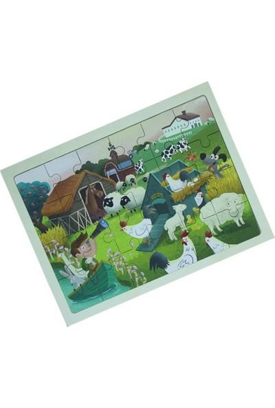 Forus Neşeli Çiftlik / 24 Parça Ahşap Puzzle