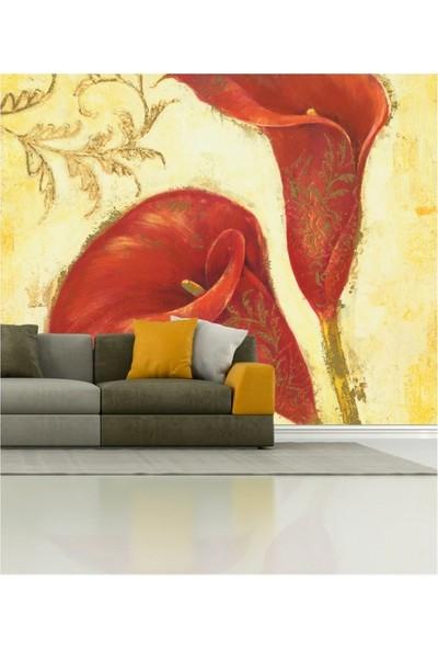 Artikel Kırmızı Kadife Çiçeği 178 x 126 Cm Duvar Resmi