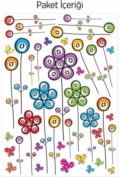 Artikel Çiçekler-2 Duvar Sticker 50 x 70 Cm