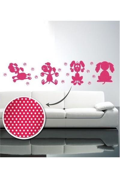 Artikel Benekli Köpekler Desenli Duvar Sticker 4 Adet