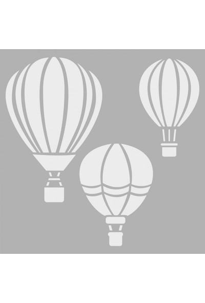 Artikel Balonlar Stencil Tasarımı 30 x 30 Cm