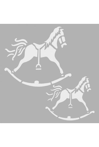 Artikel Atlar Stencil Tasarımı 30 x 30 Cm