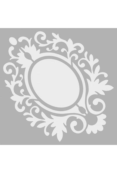 Artikel Çerçeve Stencil Tasarımı 30 x 30 Cm