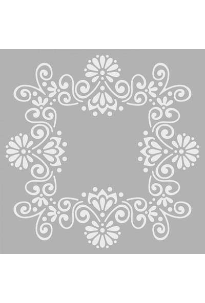Artikel Çerçeve 2 Stencil Tasarımı 30 x 30 Cm