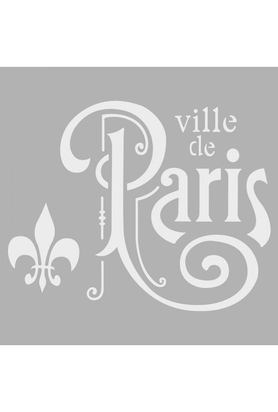 Artikel Paris 2 Stencil Tasarımı 30 x 30 Cm