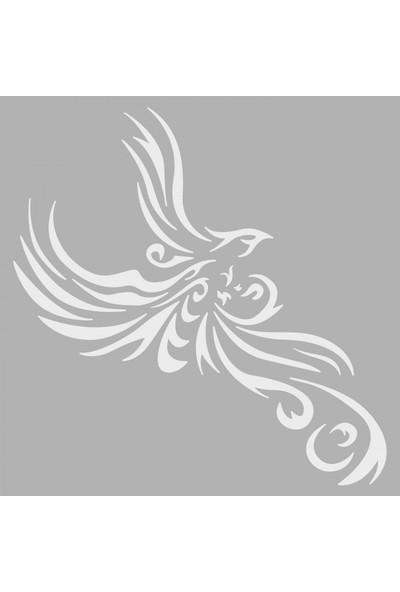Artikel Tribal Kartal Stencil Tasarımı 30 x 30 Cm