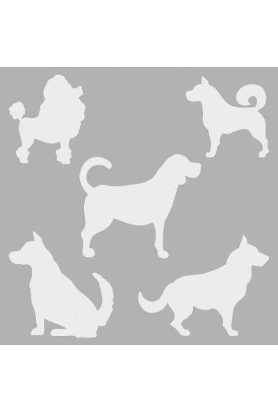 Artikel Köpekler Stencil Tasarımı 30 x 30 Cm