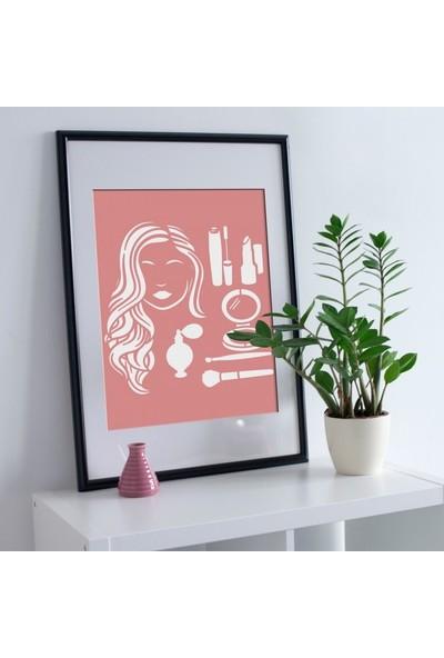 Artikel Makyaj Stencil Tasarımı 30 x 30 Cm