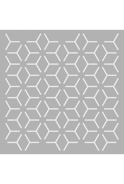 Artikel Desen 5 Stencil Tasarımı 30 x 30 Cm