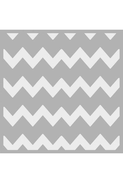 Artikel Chevron Stencil Tasarımı 30 x 30 Cm
