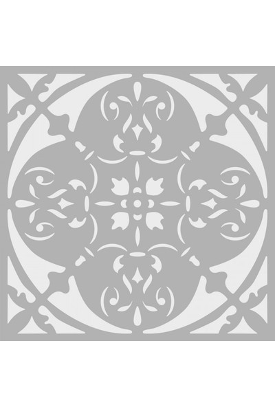 Artikel Dekor 4 Stencil Tasarımı 30 x 30 Cm