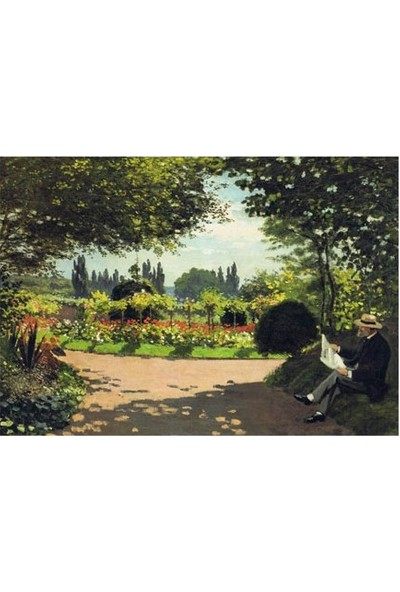 Artikel Adolphe Monet Reading İn The Garden 50 x 70 Cm