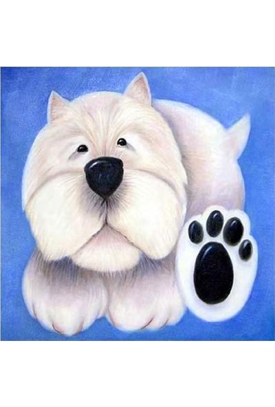 Artikel Sweet Dog 4 Parça Kanvas Tablo 70 x 70 Cm