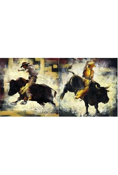 Artikel Taurus 2 Parça Kanvas Tablo 80 x 40 Cm
