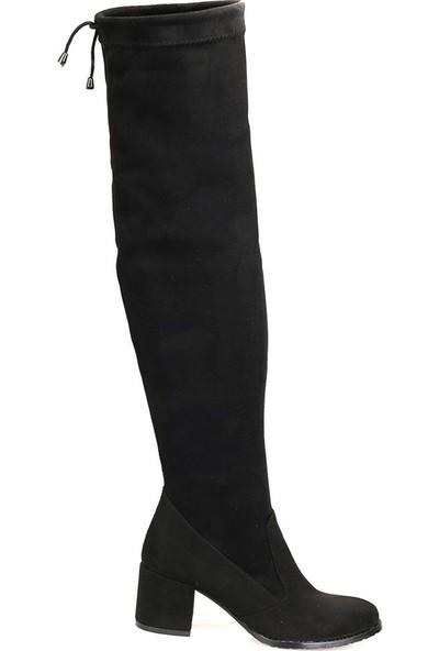 Butigo 18K-414 Siyah Kadın Basic Dress
