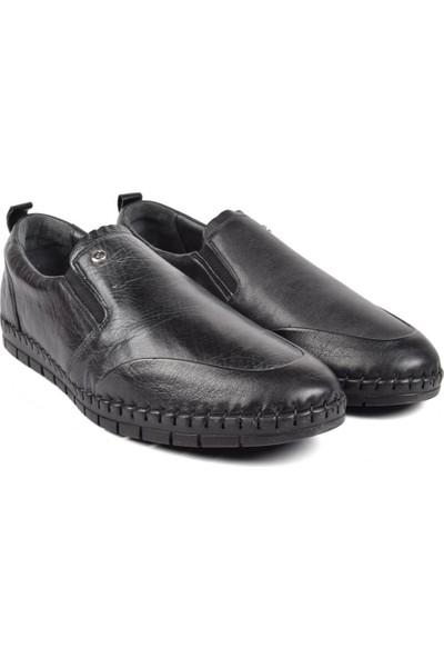 Pierre Cardin P9807C-1 Siyah Erkek Deri Ayakkabı