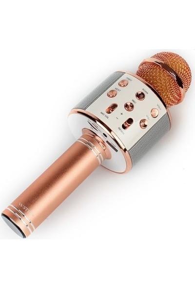 Tigdes WS-858 Profesyonel Ses Kaydı Yapabilen Karaoke Mikrofon WS858 Rose Gold