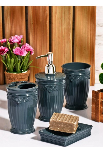 Freecook Banyo Dekorasyon Seti Sultan Kabartma 4Lü Set