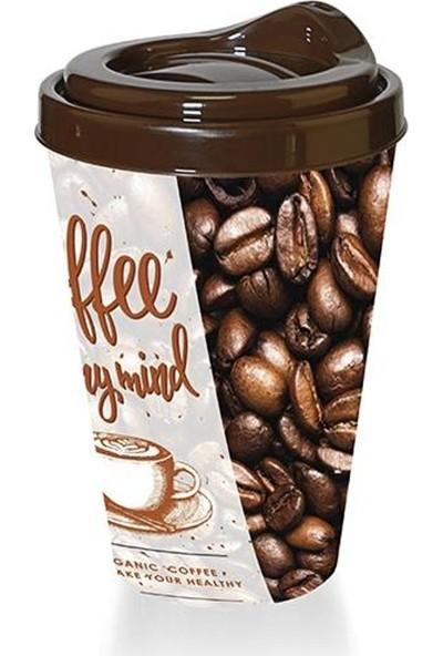 Titiz Kahve Bardağı - Kapaklı Desenli
